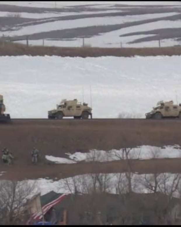 Militarized Police Remove DAPL Activists (Video) Promo Image
