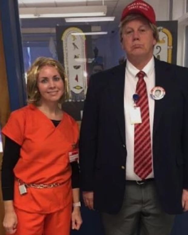 School Staff In Candidate Costumes Face Backlash Promo Image