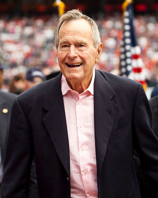 George H.W. Bush Hospitalized For Pneumonia Again Promo Image