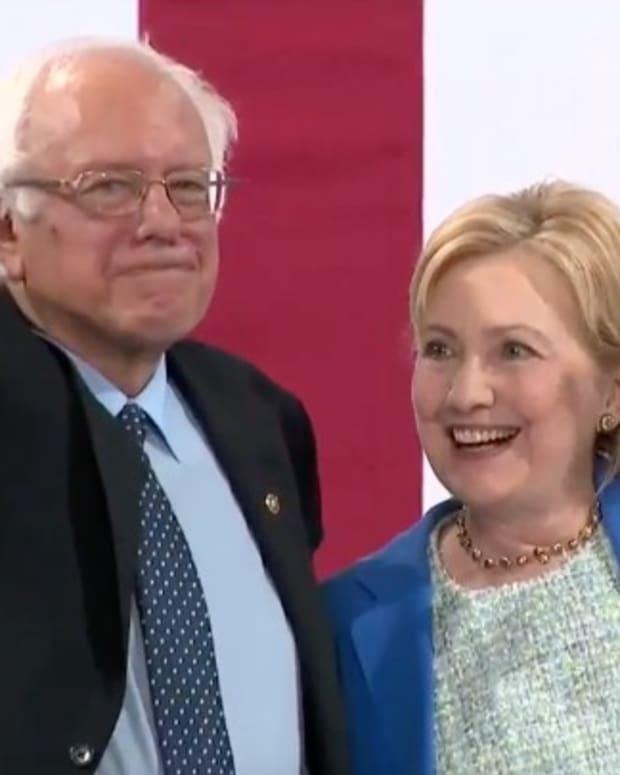 Bernie Sanders Endorses Hillary Clinton (Video) Promo Image