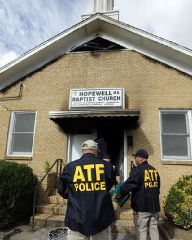 """""""Vote Trump"""" Painted On Church After Possible Arson Promo Image"""