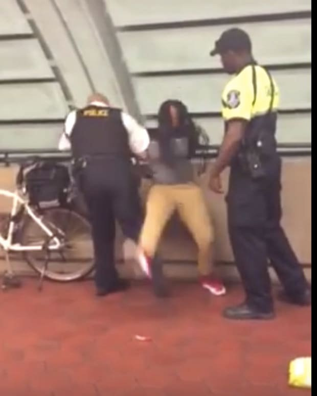 DC Cop Knocks Down Black Girl Over Lollipop, Chips (Video) Promo Image