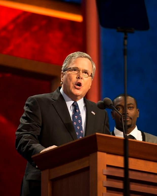 Jeb Bush: Trump Is 'A Distraction In And Of Himself' Promo Image