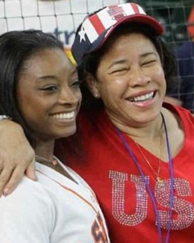 Revealed: Five-Word Message Simone Biles' Dad Sent Promo Image