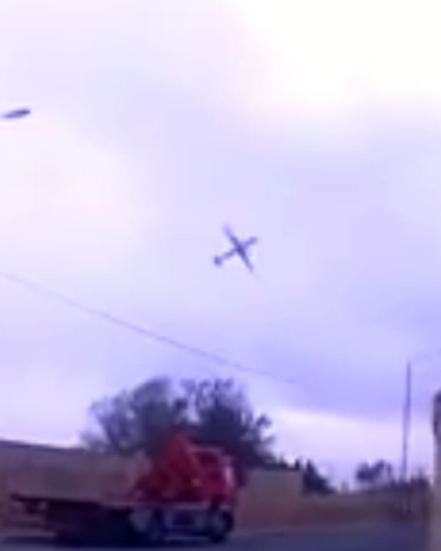 Dashcam Films Last Seconds Of Plane In Malta Crash (Video) Promo Image