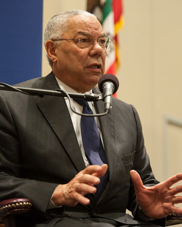 Colin Powell Calls Trump A 'National Disgrace' Promo Image