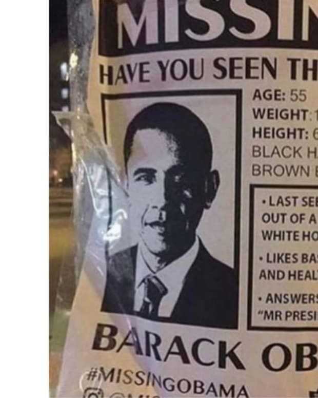 Obama Missing Person Posters Seen Worldwide Promo Image