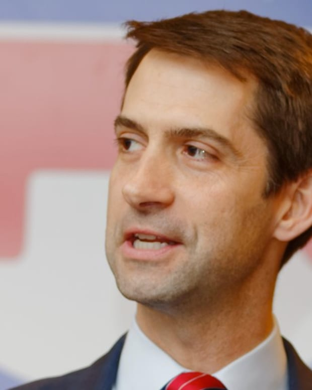 7-Year-Old Boy Stumps Sen. Tom Cotton At Town Hall (Video) Promo Image