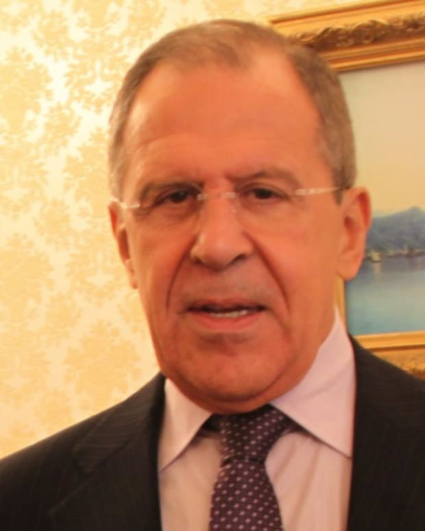Russian Foreign Minister Jokes About Comey's Firing (Video) Promo Image