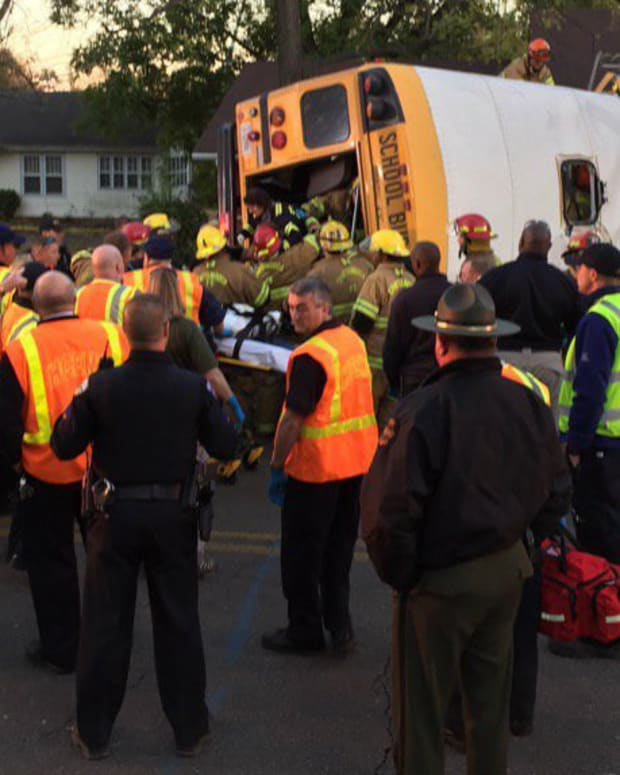 Witnesses: School Bus Speeding Before It Split In Half Promo Image