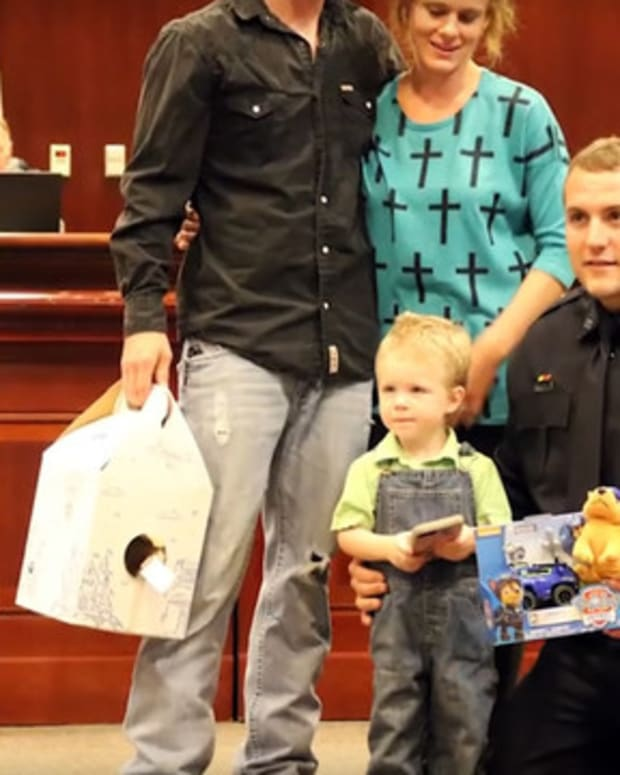 Officer Uses CPR To Save Boy's Life (Video) Promo Image