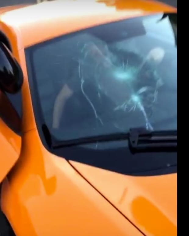 Skateboarder Smashes Windshield Of $250K Car (Video) Promo Image