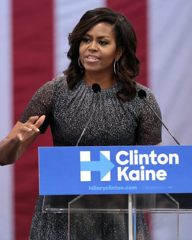 Michelle Obama Ignores TMZ Reporter's Question (Video) Promo Image