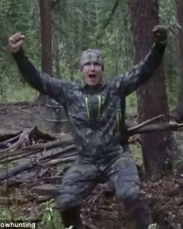 Hunter Films Himself Spearing Bear (Video) Promo Image