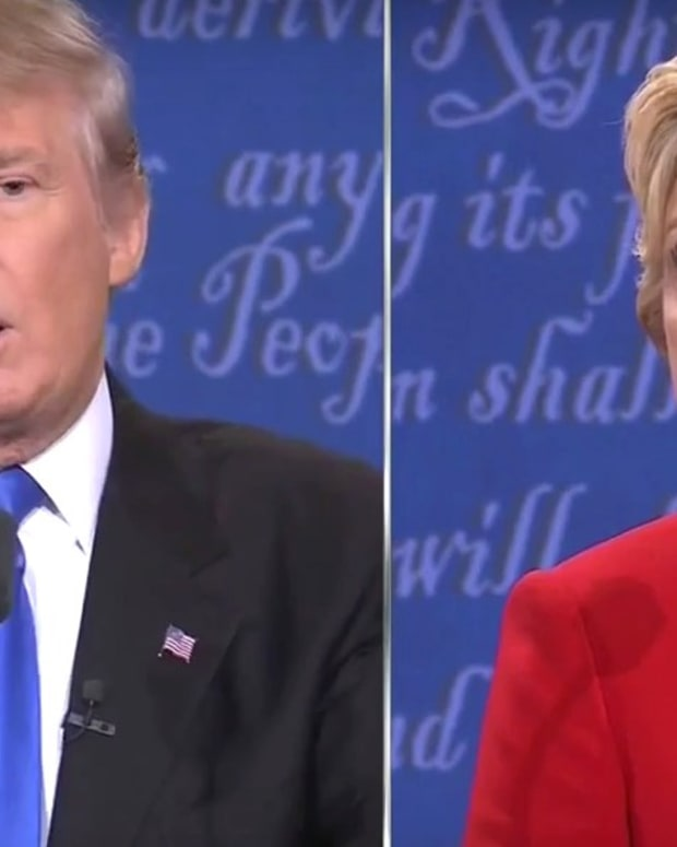 Trump Gets Fact-Checked On Debate Statements (Video) Promo Image