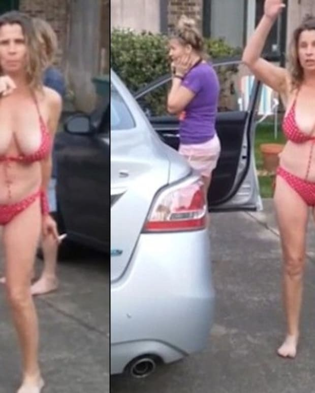 Bikini-Clad Woman's Racist Rant Goes Viral (Video) Promo Image