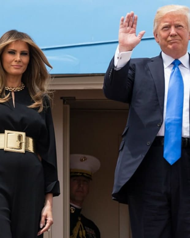 Melania's Middle East Wardrobe May Have Hidden Message Promo Image