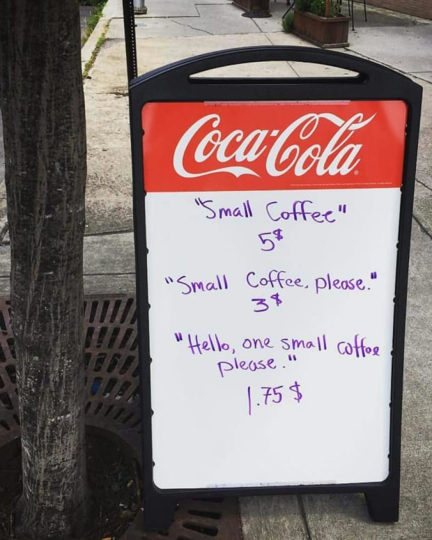 This Sign Outside A Local Coffee Shop Is Going Viral Promo Image