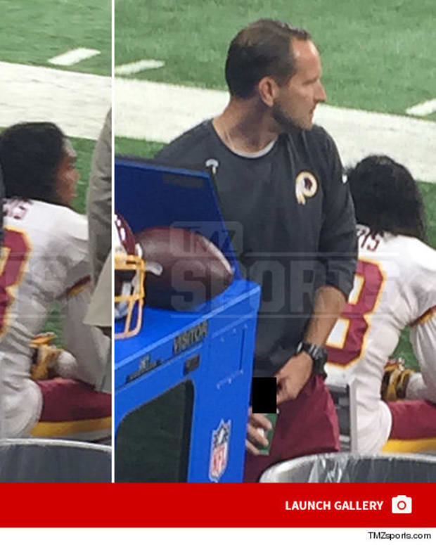 Redskins Coach Caught Urinating During NFL Game (Photo) Promo Image