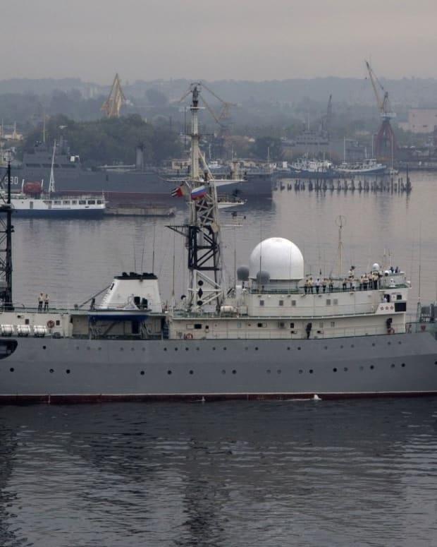 Russian Spy Ship Spotted Near US Coastline Promo Image