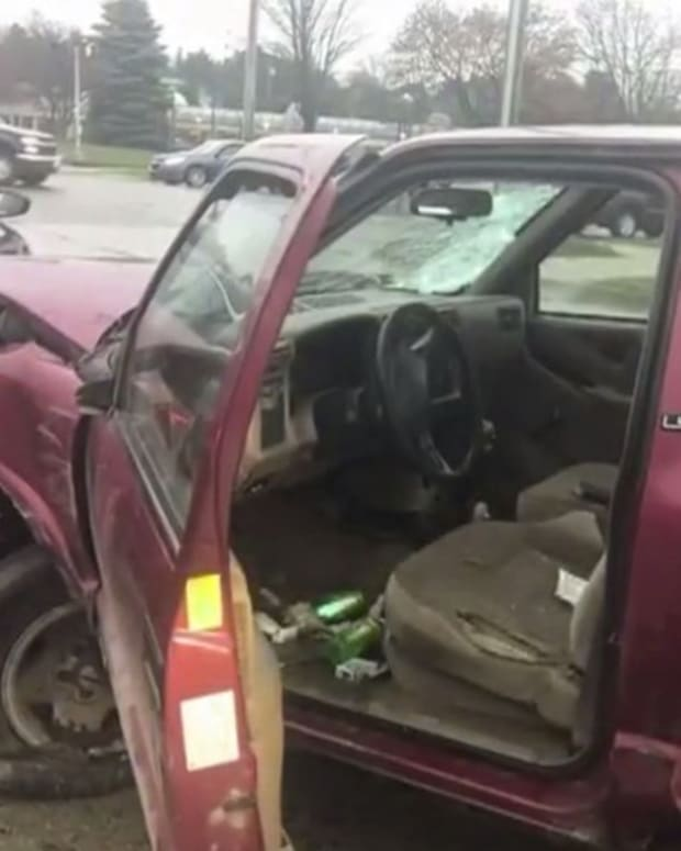 Man Crashes Into Several Cars, Blames Devil (Video) Promo Image