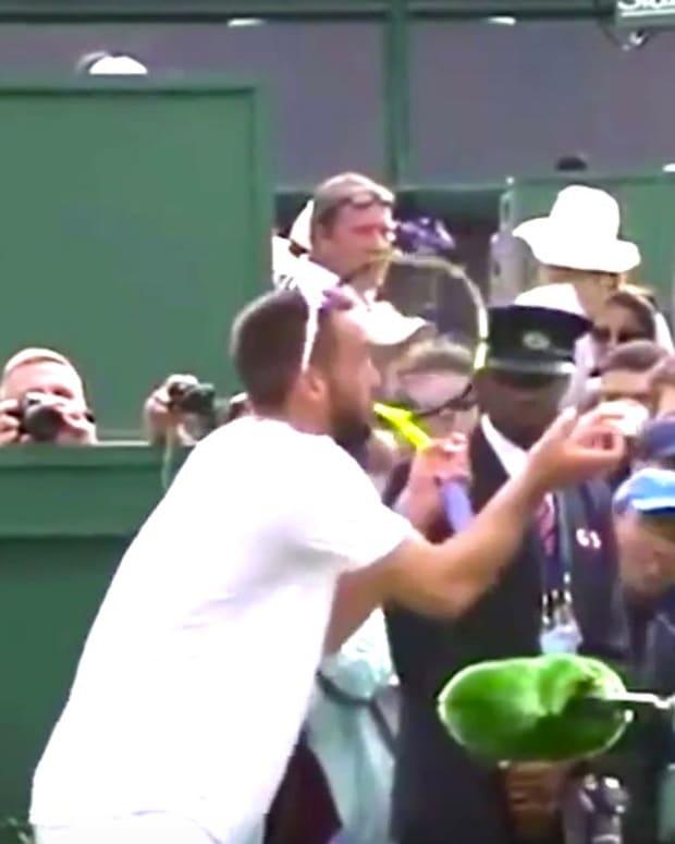 Wimbledon Player Viktor Troicki Yells At Umpire (Video) Promo Image