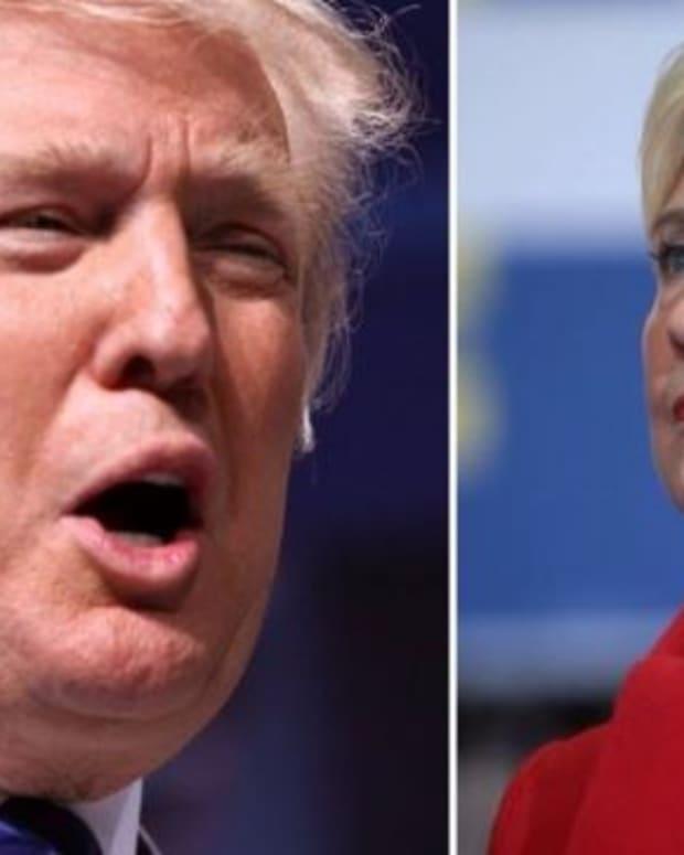 Rasmussen Poll Puts Trump Over Clinton Nationally Promo Image