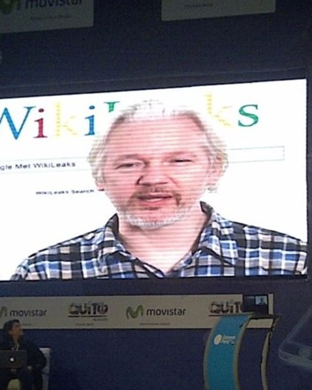Julian Assange Questioned About Rape Allegations Promo Image