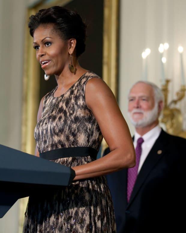 Michelle Obama Addresses Famous Side-Eye Meme (Photo) Promo Image