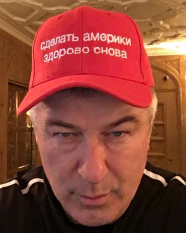 Alec Baldwin's Trump Hat Contains 'Huge' Mistake Promo Image
