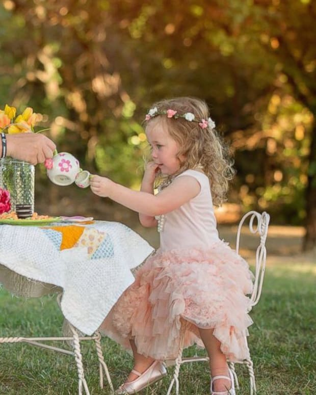 Toddler Has Tea Party With Officer Who Saved Her Life Promo Image