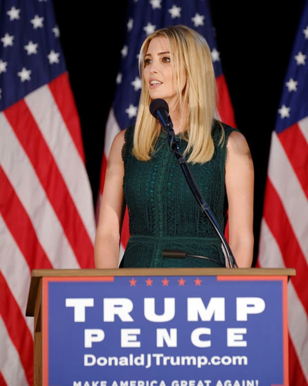 Images Of Ivanka Trump Wearing Own Brand Spark Debate (Photo) Promo Image