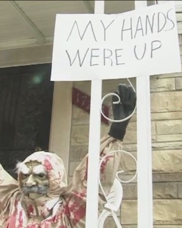 Michigan Woman Makes Statement With Halloween Display Promo Image