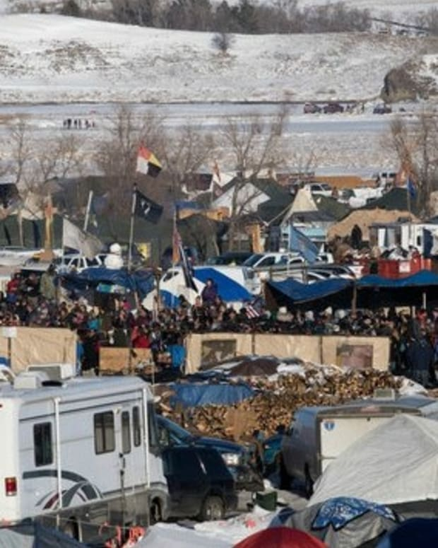 Standing Rock Leader Asks Protesters To Go Home Promo Image