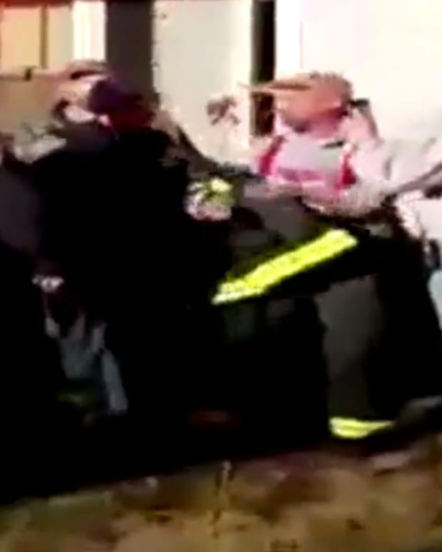 Fire Chief Arrested While Fighting House Fire (Video) Promo Image
