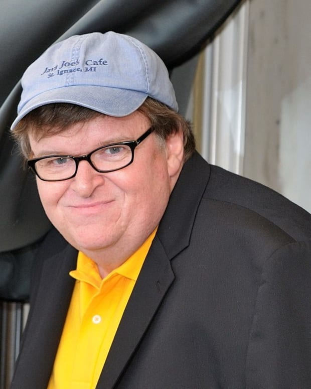Michael Moore Unveils 10-Point Plan To Defeat Trump Promo Image