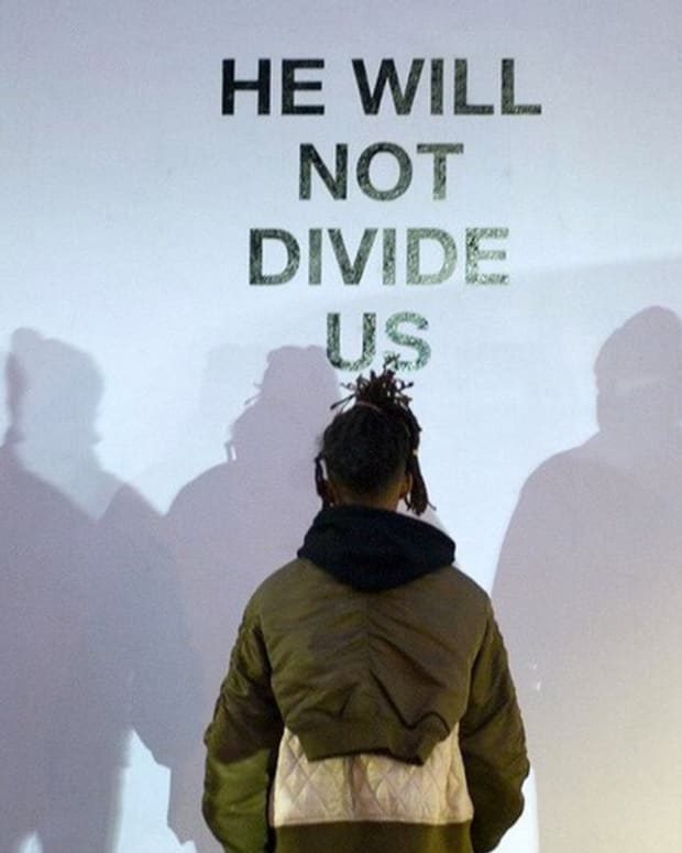 Shia LaBeouf Shouts Down Alleged White Supremacist (Video) Promo Image