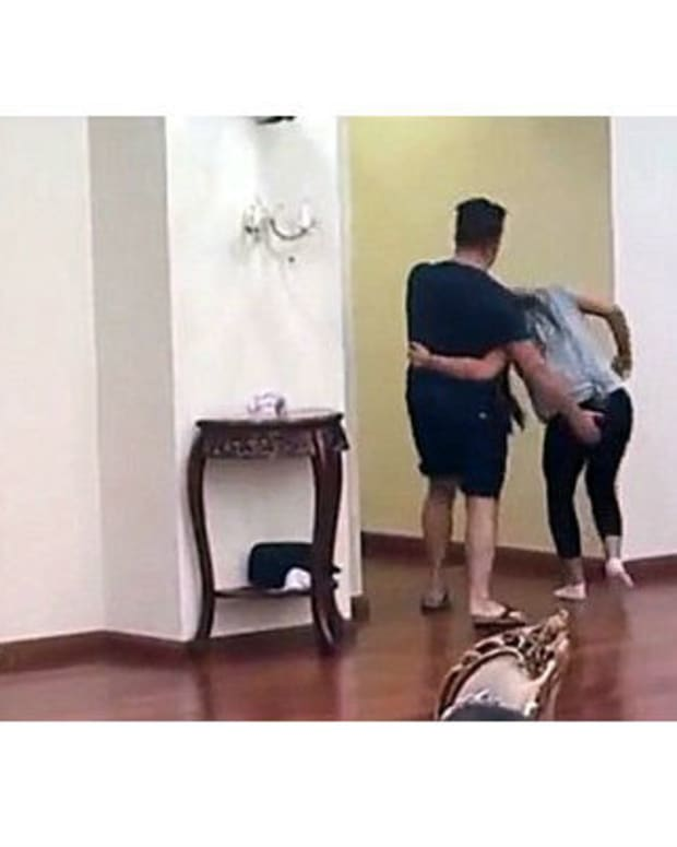 Man Beats Wife On TV Show (Video) Promo Image