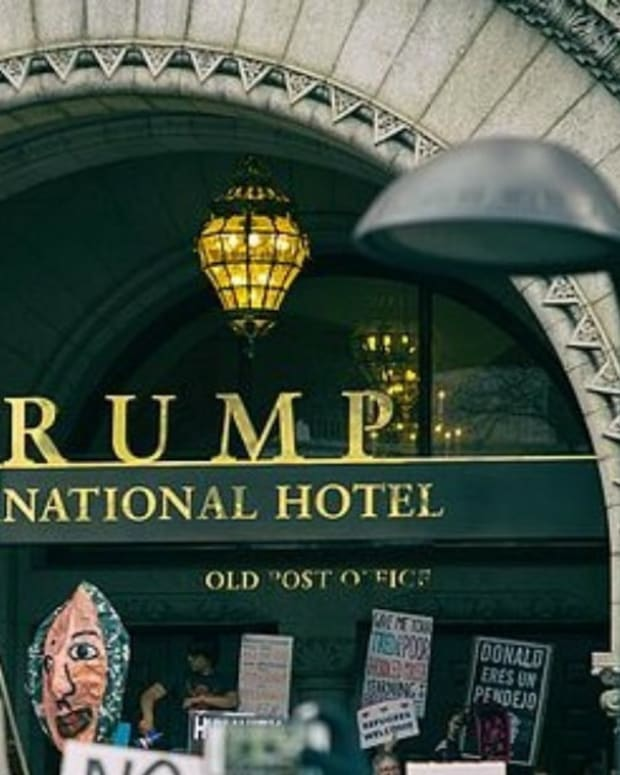 Trump Hotel Receives Unwelcomed Message (Photos) Promo Image