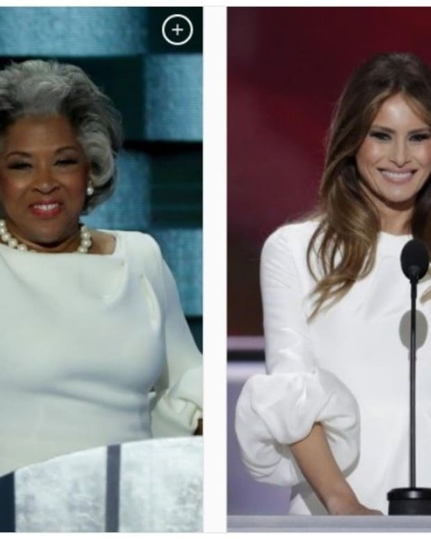 Congresswoman 'Plagiarizes' Melania Trump's Dress Promo Image