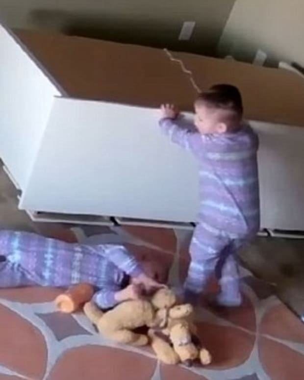 Toddler Saves Brother From Fallen Dresser (Video) Promo Image