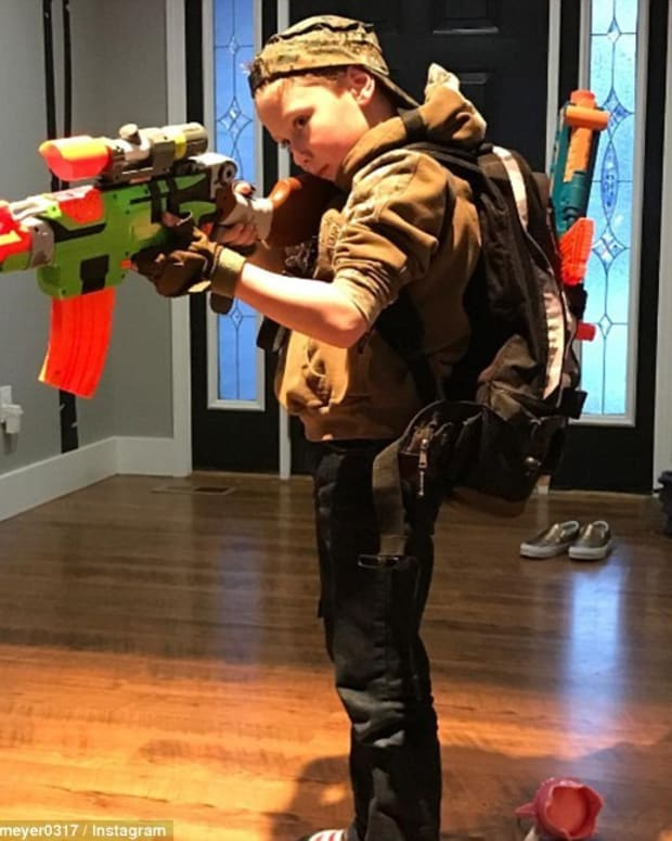 Bristol Palin's Son Pictured Playing With Toy Gun Promo Image