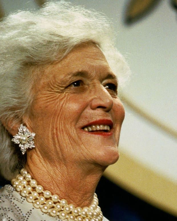 Barbara Bush Hospitalized Promo Image