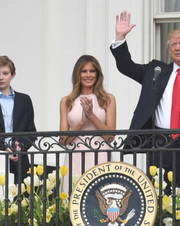 Melania And Barron Trump Move Into White House (Photos) Promo Image