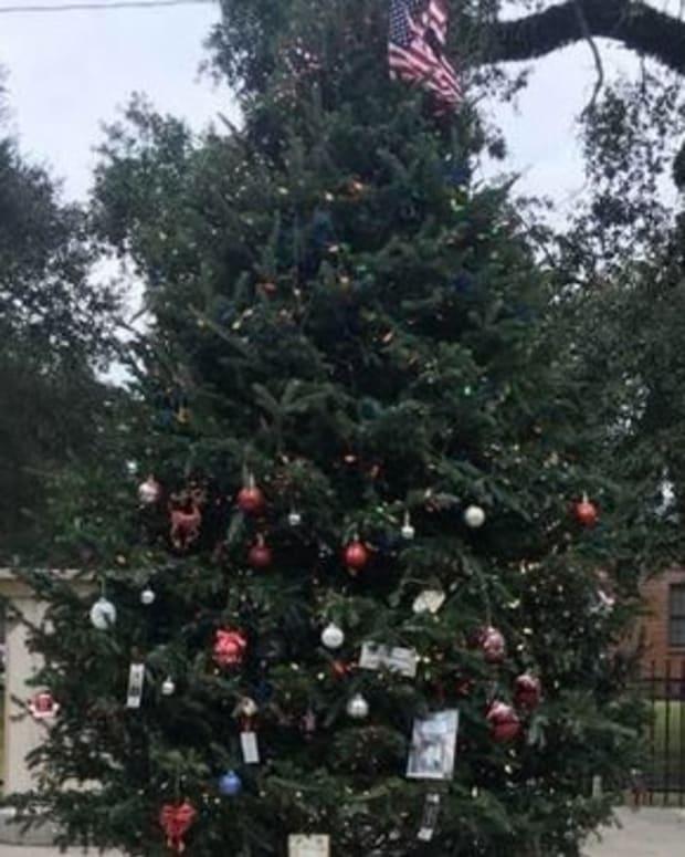 Christmas Tree Honoring Veterans Goes Viral (Photos) Promo Image