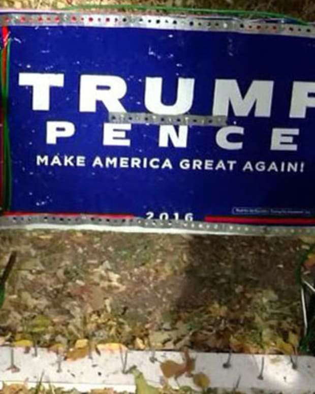Marine's Trump Sign Run Over, Now He Has Bad News For The Ones Who Did It Promo Image
