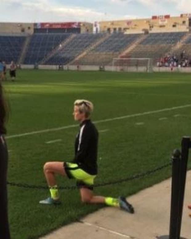 Soccer Stars Kneels In Solidarity With Kaepernick Promo Image