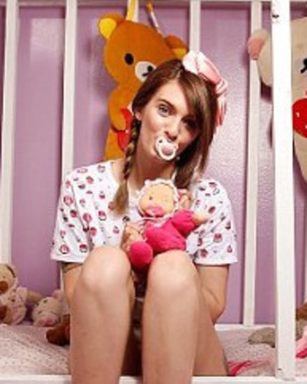 Woman Dresses, Acts Like Baby To Cope With Sex Abuse Promo Image