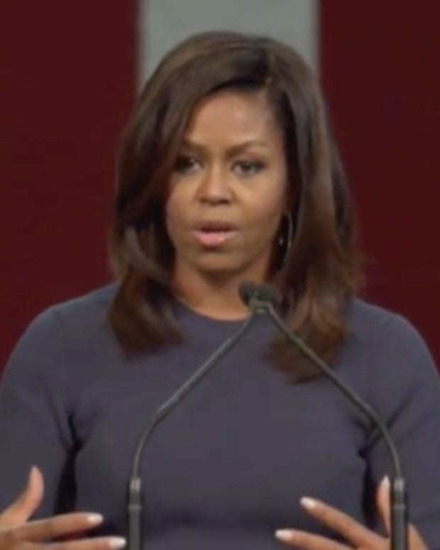 Michelle Obama Speaks Out On Trump (Video) Promo Image