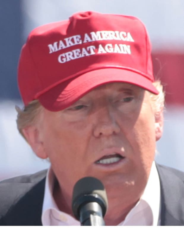 Trump Debuts ''45'' Hat Amidst Recount Petition Promo Image